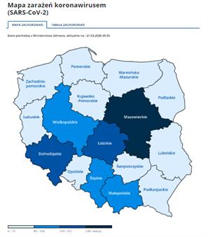 mapa koronawirus