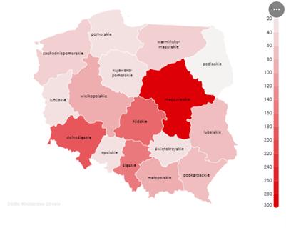 mapa koronawirusa